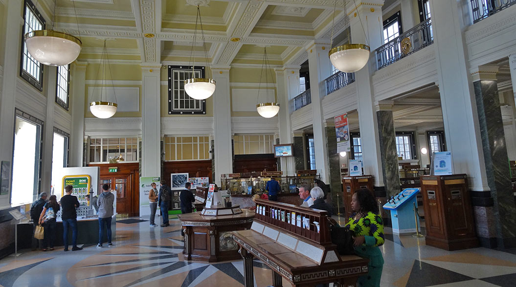 things to do in Dublin: interior of general post office