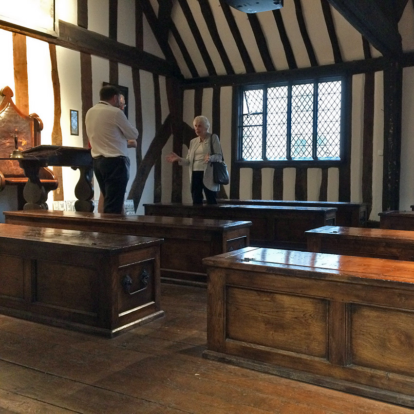 Shakespeare's classroom in Stratford Upon Avon - Sherpa walking holidays UK