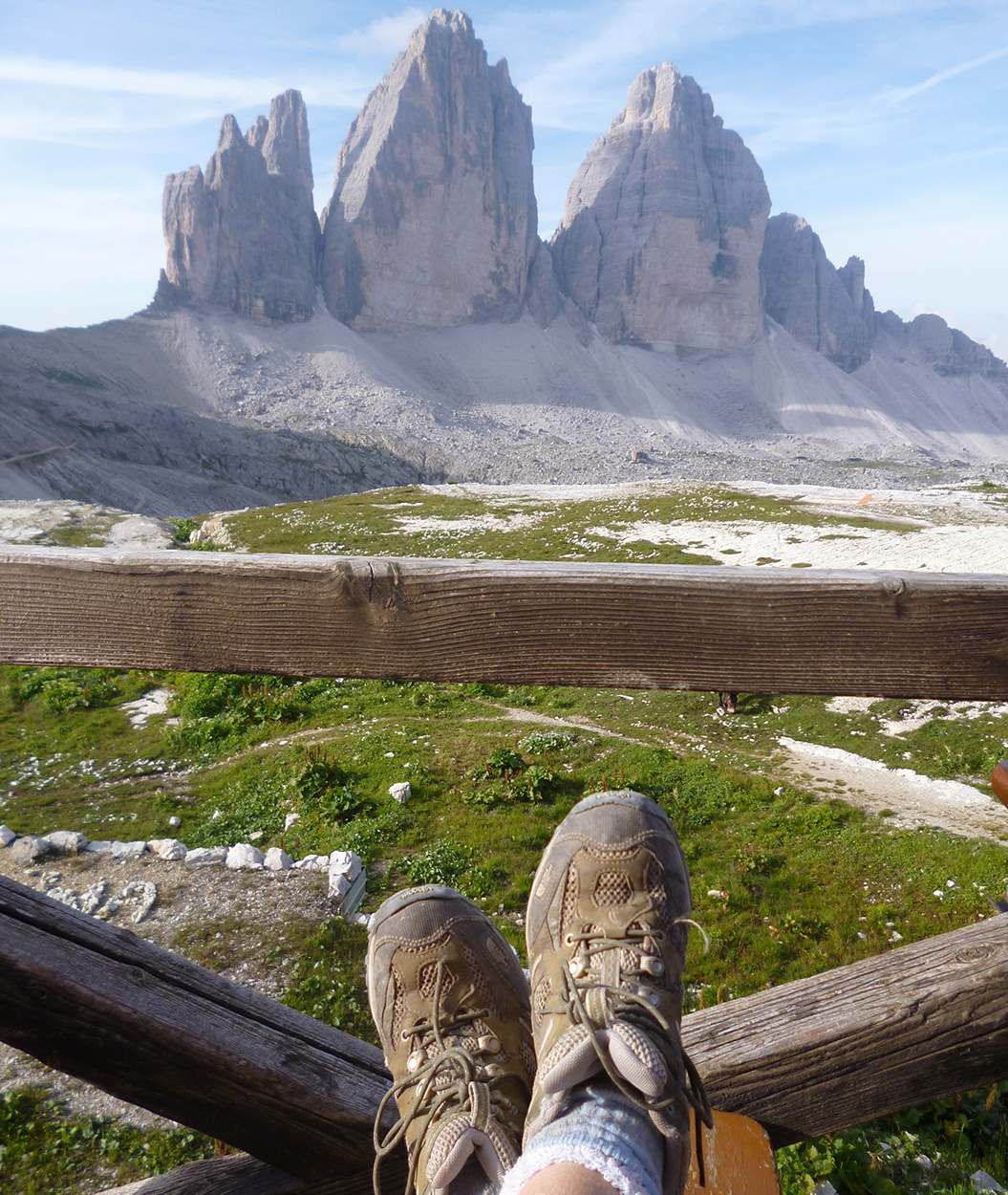 Clean Hiking Boots in the Italian Dolomites on a walking holiday - Sherpa Expeditions