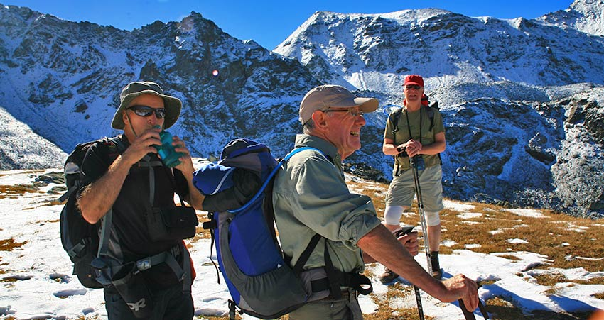 Drinking water to prevent dehydration - Sherpa Expeditions walking holidays