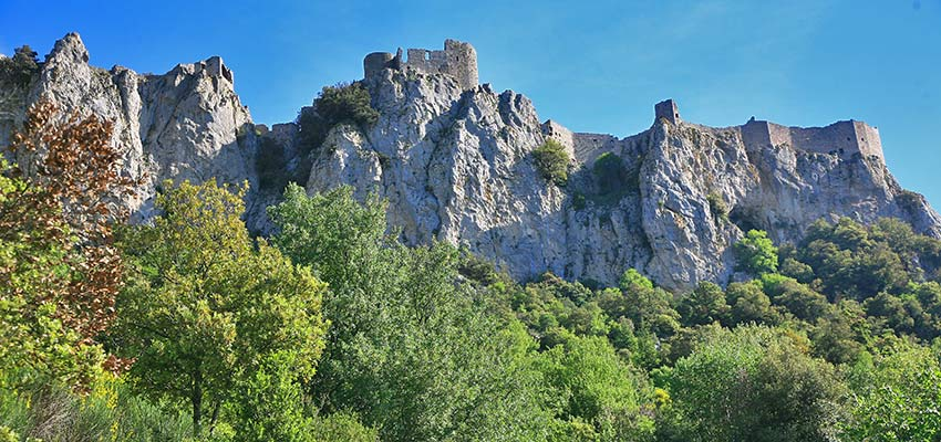 Castle Ruins in Pyrenees in France - Sherpa Expeditions