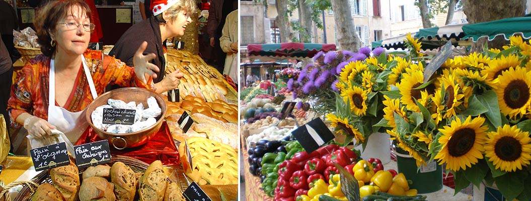 Visit the French markets in Provence - Sherpa Expeditions walking holidays