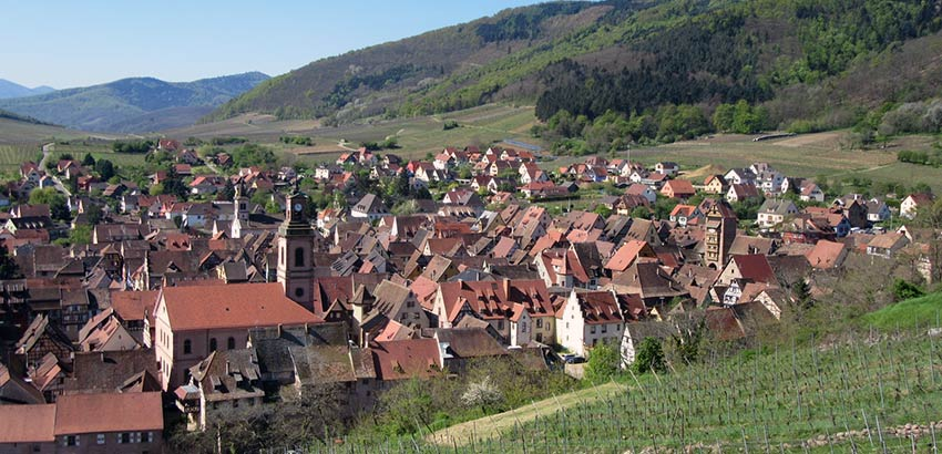 Views over Riquewihr in the Alsace - Sherpa Expeditions