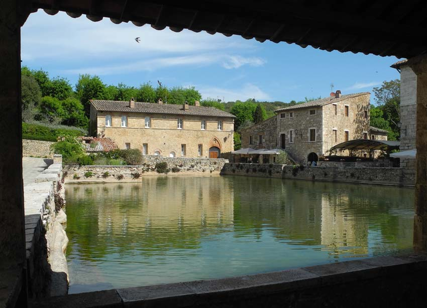 The old bath in Bagno Vignoni