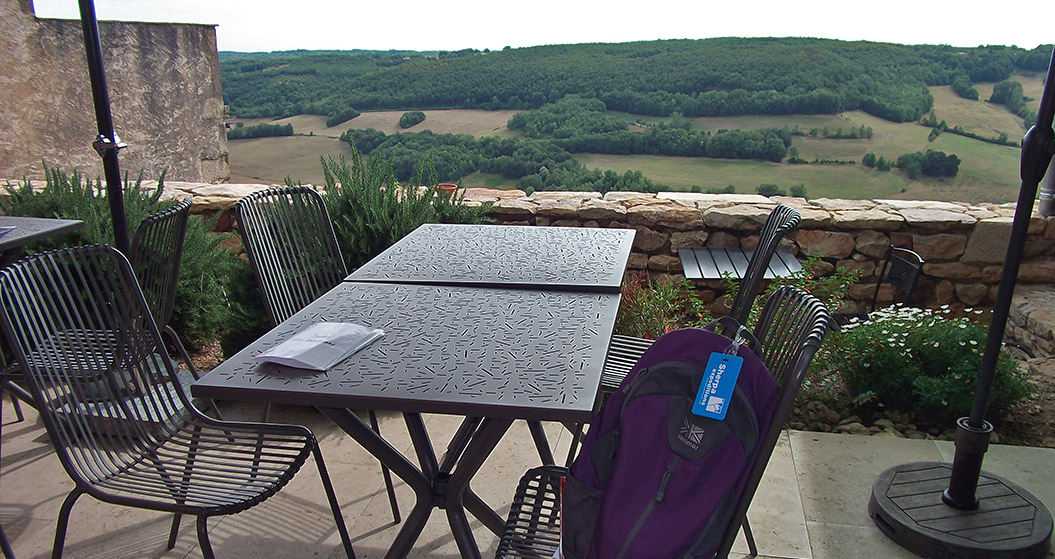 Restaurant with a view, walking in Tarn & Aveyron, France
