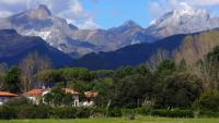 Views of the Apuane Alps from the Francigena Way