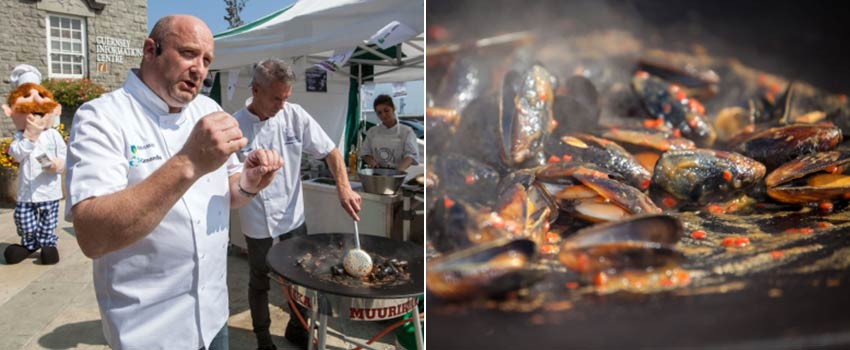 Food demonstration event in Guernsey - Sherpa Expeditions
