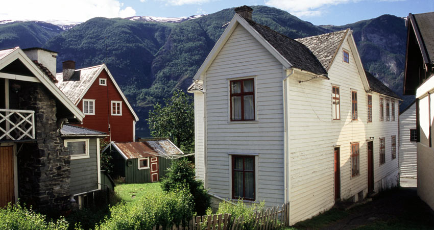 Traditional Town Houses in Aurland, Norway