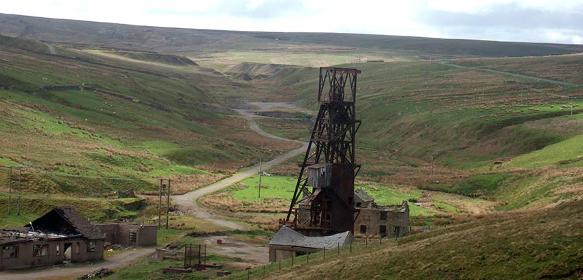 Old mine near Rookhope on the Coast to Coast route, UK - Sherpa cycling holidays